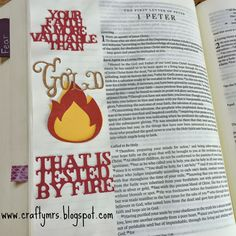 More valuable than {gold} Illustrated Faith Journaling Bible 1 Peter 1:7