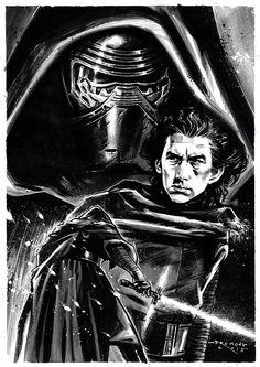 Star Wars VII - The Force Awakens / Kylo Ren / Drumond Art