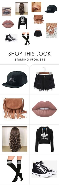 """Diamond at Venice with Jacob"" by alissaoriginal on Polyvore featuring NIKE, Bellezza, Apt. 9, Lime Crime, Topshop and Converse"