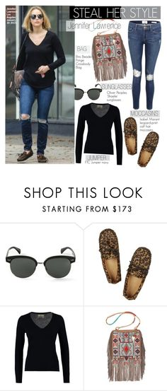 """""""Steal Her Style-Jennifer Lawrence"""" by kusja ❤ liked on Polyvore featuring Oliver Peoples, Isabel Marant, FTC, Etro, Frame, Stealherstyle, jenniferlawrence and celebstyle"""