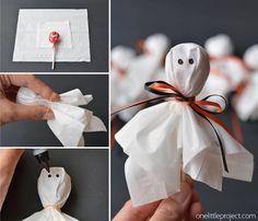 Come fare fantasmi con chupa chups