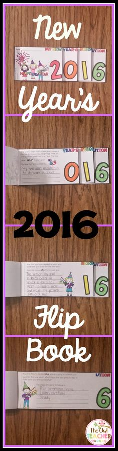 New Year's Resolution Flip Book: This is a fun flip book for your students to record what their New Year's Resolution is, how they will achieve it, and why it's their goal! It comes with a graphic organizer and reflection pages! $