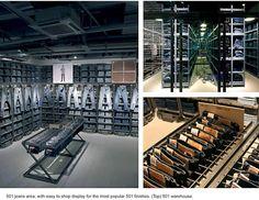 Denim Library. Levis Flagship Store Regent Street, London (A.R.E Awards) store design