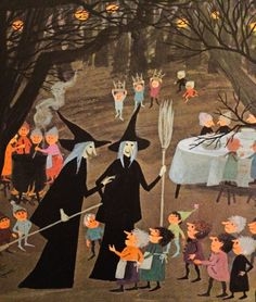 From The Halloween Party, by Lonzo Anderson, illustrated by Adrienne Adams, 1974