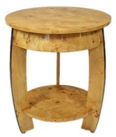 Schon Casa Padrino Art Deco Beistelltisch Vogelaugen Ahorn H65 X 75cm   Ludwig  XVI Antik Stil Tisch   Möbel