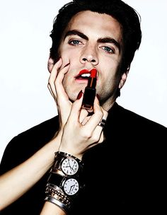 Shut up & get it on. National Lipstick Day Wes Bentley photographed by Ben Hassett for VMAN Magazine. Manicure by Alicia Torello. Makeup by Alice Lane. Vman Magazine, Beautiful Men, Beautiful People, National Lipstick Day, Alexander Ludwig, Male Makeup, American Horror Story, Star Fashion, Men's Fashion