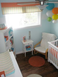 small, colorful baby room