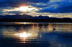 Sunset at Lake Moogerah, in Queensland's Scenic Rim Region