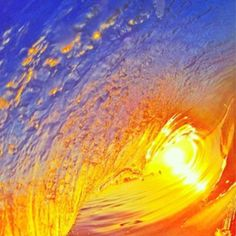 Sunset beautiful wave ocean