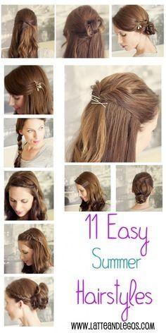 Cute Easy Hairstyles For Summer Summer Hairstyles Peinados Hair