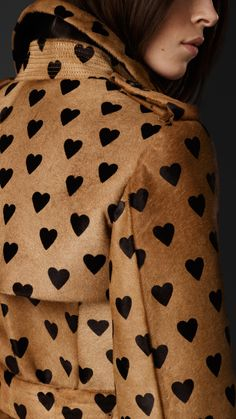 Heart pattern on a pea coat? Yes, please!