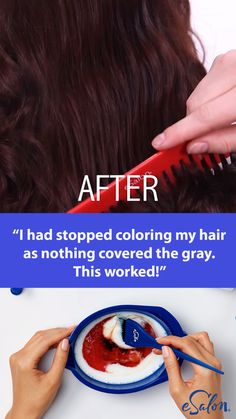 Ditch the generic drugstore box and try this new DIY hair color: It was the exact hair color I was looking for but could not find. That in between color that you just can't get from store bought colors.The first and only of its kind, our customized h Diy Hair Dye, Dyed Hair, Curly Hair Styles, Natural Hair Styles, Diy Haarfärbemittel, Diy Crafts, Hair Colour Design, Diy Hair Colour, At Home Hair Color