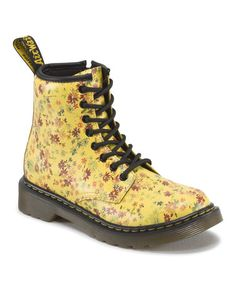 Sun Yellow Floral  Dr. Martens