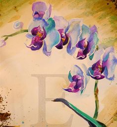 ORCHIDS WATERCOLOR painting 14x19 by EcoProduct on Etsy, $90.00