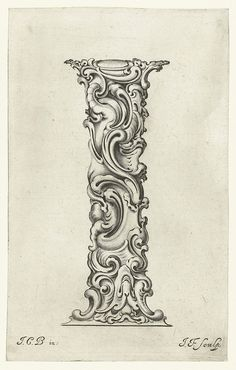 A stunning series of letterforms designed in the mid-17th century, writhing forms which hover somewhere between the monstrous and floral