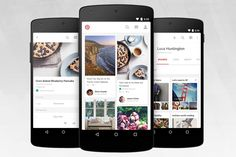 A new look for the Android app, via the Official Pinterest Blog