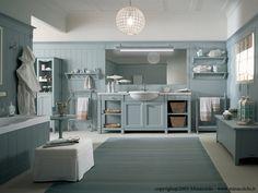 Baños Bathroom Furniture ENGLISH MOOD Azzurro Aurora by Minacciolo