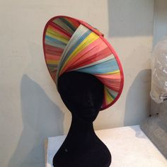 Magical striped Jinsin abaca Buntal bought in Paris, made in Melbourne.