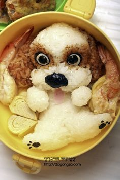 Just to Make You Smile: 50 Masterpieces of Sushi and Bento Box Food Art . Cute Food, Good Food, Yummy Food, Awesome Food, Bento Recipes, Cooking Recipes, Bento Ideas, Fun Cooking, Cooking Ideas