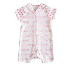 Personalized Baby Shorts Onesie - polka dots - JenniferAnn  www.jenniferannstyle.com