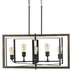 Home Decorators Collection Palermo Grove Collection 5-Light Gilded Iron Linear Chandelier 7922HDC at The Home Depot - Mobile