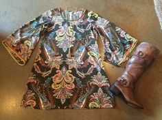 Uncle Frank Paisley Print Tunic / Dress | Cadillac Cowgirl
