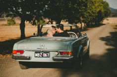 Cassie and Trent's Classic 1950s Engagement Shoot