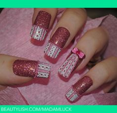 madam luck nails | This design is for breast cancer awareness!!..my mom is a survivor ...