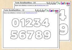 Molde de Letras e Números Boris Black Bloxx - Molde de Letras