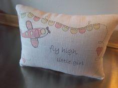 Tween gift Adventure nursery Airplane pillow by SweetMeadowDesigns