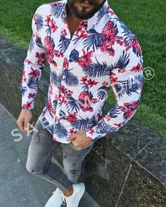 Mens Casual Suits, Stylish Mens Outfits, Casual Shirts, Casual Outfits, Blue Blazer Outfit Men, African Shirts For Men, Mens Designer Shirts, Hommes Sexy, Camisa Polo