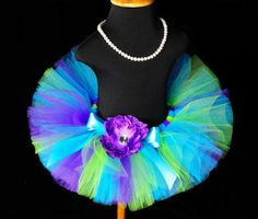 Purple n Lime Turquoise Girls Tutu by PoshBabyStore.com