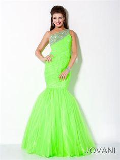 Jovani 30002 at Prom Dress Shop Neon green..not every girl can wear this color..
