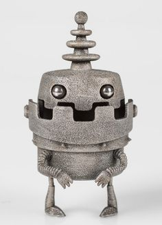 Just Robots: Printed Robot Figurines from the UK Evoke Nostalgia… 3d Printing News, 3d Printing Technology, 3d Printing Service, Printing Process, 3d Printed Robot, 3d Printed Objects, I Robot, 3d Prints, 3d Artist