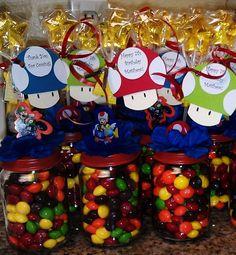 Mario Brothers Baby Food Jar Party Favors. $5.83, via Etsy.