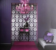 Brocante Collection by Vision.  Damask & Scroll designs.  Wallpapershop / Murrays Interiors