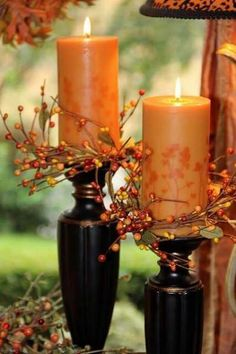 fall candles for fall wedding deco Fall Home Decor, Autumn Home, Holiday Decor, Deco Champetre, Fall Candles, Orange Candles, Cute Candles, Pumpkin Candles, Beeswax Candles