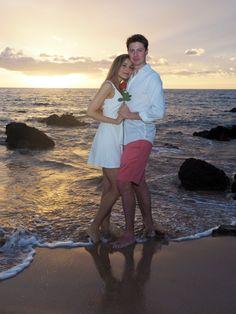 A romantic photo shoot on a Maui beach at sunset. View more images at: http://mauiislandportraits.com/romantic-photo-shoot/
