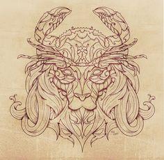 Lion Crab by Mike Koubou, via Behance