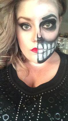 Skull makeup #makeup #fun
