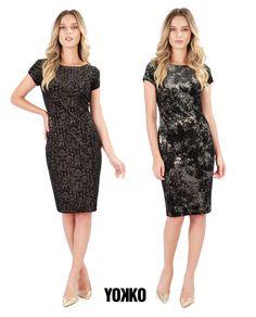 VELVET party dress. #yokko #velvet #partydress #madeinromania #gold #printedvelvet Look Chic, Party Dress, Velvet, Costume, Magic, Slim, Formal Dresses, Gold, How To Make