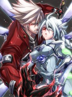 Tags: Anime, Rokusuke, BlazBlue, Nu-13, Ragna the Bloodedge, Hold Out Hand, Environmental Suit