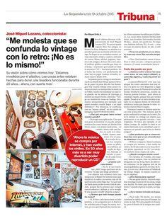 COLECCIONISTA Y AMANTE DEL  MUNDO RETRO Y VINTAGE : Entrevista Diario La Segunda