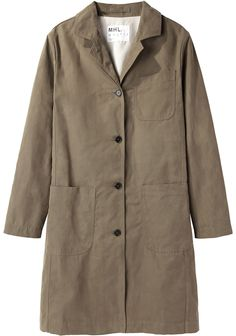 MHL by Margaret Howell / Proofed Canvas Overcoat