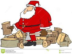 Santa getting his logs ready