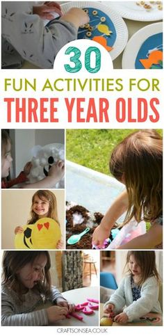 Need some inspiration? Check out these easy and fun activities for three year olds with ideas for crafts, sensory play, numeracy and more!