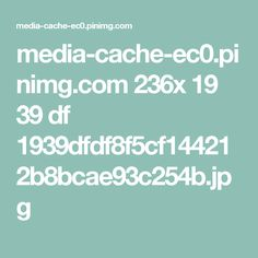 media-cache-ec0.pinimg.com 236x 19 39 df 1939dfdf8f5cf144212b8bcae93c254b.jpg