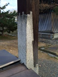 Stone/concrete to wood lap joint