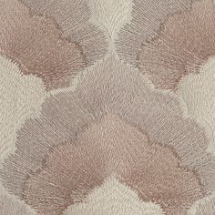 #Weitzner 'Adelaide' fabric: Subtle shifts of color fill the lyrical scallops of Adelaide. Embroidered in shimmering rayon satin stitch on a cotton ground, this stunning all-over embroidery is available in four multi-toned colorways.