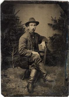 Tintype portrait of a gentleman missing two fingers, 1875. The sitter has been arranged to display the finger stumps, presupposing a story behind their loss.